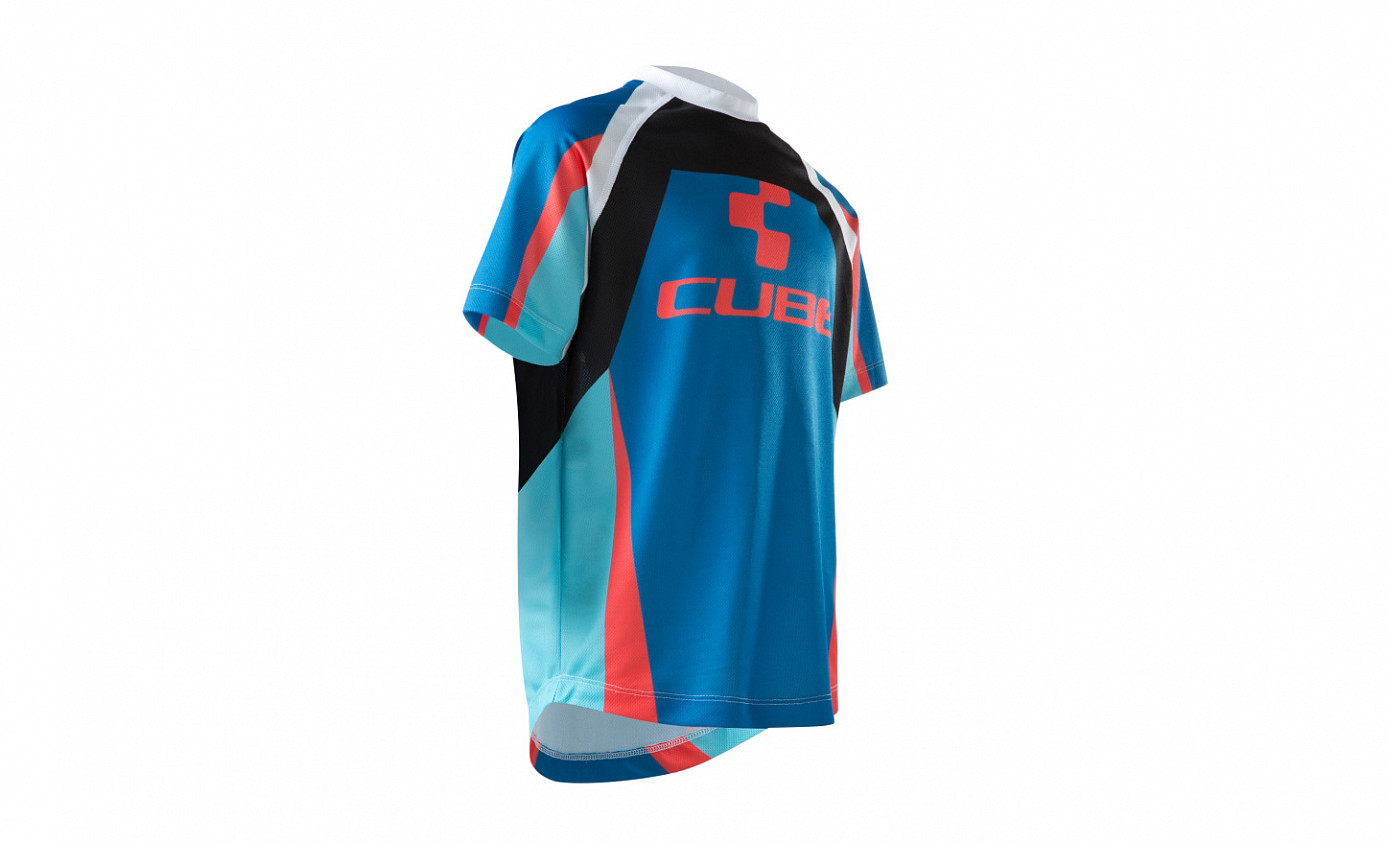 CUBE JUNIOR ACTION TEAM Round-Neck Jersey S/S